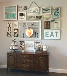 DIY Farmhouse Living Room Wall Decor www.goodnewsarchi… DIY Farmhouse Living Room Wall Decor www. Dining Room Walls, Living Room Decor, Living Rooms, Dining Area, Decor Room, Room Art, Outdoor Dining, Dining Table, Home Decor Trends