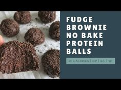 These no bake protein balls are loaded with chocolate and tout 10 grams of protein each with only 12 grams of carbs and 115 calories.