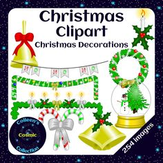 High-Quality clipart and a set that can be used as Movable Pieces in Digital Resources both included!This Christmas Decorations Clipart set contains glittery and colourful…