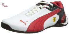 Puma  JNR Future Cat M2 SF 303968, baskets mixte enfant - Blanc - White/Red/Black, 4 UK - Chaussures puma (*Partner-Link)