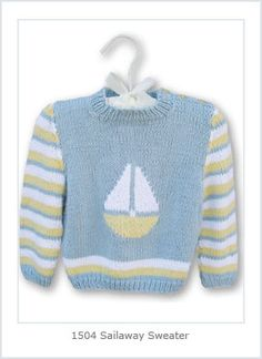 Ravelry: Sail Away Baby pattern by Hélène Rush: 3 month to 3 year