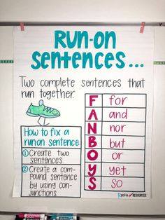 Writing Mini Lesson #4- Run-On Sentences - Rockin Resources