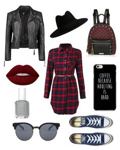 """""""Street style"""" by alisabest on Polyvore featuring мода, Boohoo, River Island, Yves Saint Laurent, Quay, Lime Crime и Converse"""