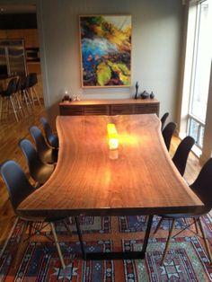 Custom Made Live Edge Walnut Dining Table