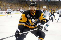 JUNE 01: Ben Lovejoy #12 of the Pittsburgh Penguins skates during the first period against the San Jose Sharks in Game Two of the 2016 NHL Stanley Cup Final at Consol Energy Center on June 1, 2016 in Pittsburgh, Pennsylvania.