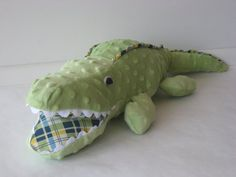 Alligator Plush by ThornappleFarm on Etsy, $36.00 ---- I am in LOVE with this alligator!