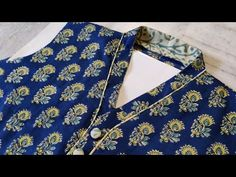 Perfect V Collar Neck Design with Short Placket Easy Cutting and Stitching@RR Fashion Point - YouTube