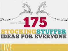 Stocking Stuffers For Everyone
