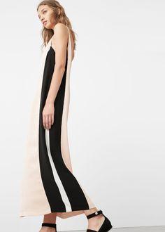 Vestido paneles contraste | MANGO