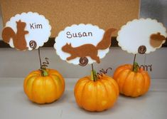 Thanksgiving Place Card Holders • Vicki O'Dell