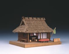 Beautiful wooden model kits Woody Joe from Japan Bamboo Architecture, Japanese Architecture, Images Pirates, Minecraft Japanese House, Wooden Model Kits, Japanese Tea House, Japan Crafts, Architecture Concept Drawings, Medieval Houses