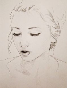 Simple drawing of a girl