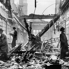 Holland House library after an air raid, 1940. Historic England Archive BB83/04456