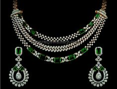 Pretty Necklaces with Ruby Emeralds | Jewellery Designs