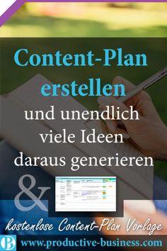 So erstellt ihr einen Content Plan und ezeugt daraus einen unendlichen Pool an Ideen + Vorlage
