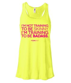 """NEW IN THE SHOP --- and 10% off your FIRST PURCHASE using coupon code yournew10   """"Training to be Badass"""" - Workout tank by Thick to Thin"""