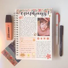 Two posts in one day? well take it as a sorry I havent posted in a while post lmao. I actually really liked this page btw? [ yes I reposted this cause it looked weird on my feed so I tried changing smthn? Bullet Journal Notes, Bullet Journal Aesthetic, Bullet Journal 2019, Bullet Journal Ideas Pages, My Journal, Bullet Journal Inspiration, Journal Pages, Bts Book, Stabilo Boss