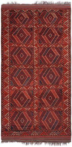 Schuler Auktionen Zürich  |   Ersari-Beshir  Turkmenistan, um 1900. 213x420 cm (ft. 7x.13.9).