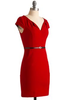 And We're Live Dress in Cherry. As the most-loved entertainment reporter of all the hottest events, you have to wow your television followers with your outfits every single day. #red #modcloth