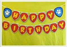 DIY Paw Patrol Happy Birthday BannerDownload Print Cut The Template From Nick Jr Websiteand Volayou Made Yourself A Banner