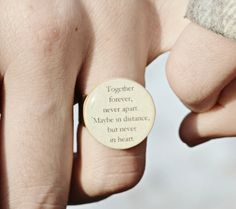 Best friend rings set of 2 BFF ring Friendship by starlightwoods