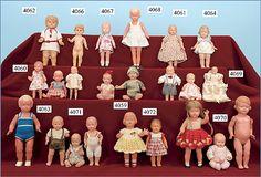 .vintage German doll house dolls