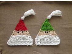 Crochet Christmas Ornaments, Christmas Crochet Patterns, Holiday Crochet, Christmas Crafts, Christmas Decorations, Crochet Crafts, Easy Crochet, Crochet Projects, Knit Crochet