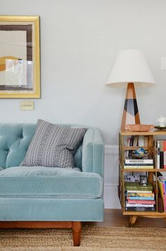 Small Space Surface Solutions | If your living room is too small for a full coffee table, these small table solutions may be for you. Especially good for apartment living or small furniture. C tables are easy to buy or DIY.