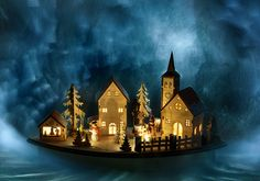 Toy town   light painting, long exposure, fine art, still life
