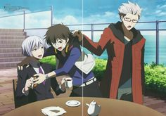 Hamatora - I don't ship Nice and Art, but seriously, it looks like Mom!Murasaki is keeping the boyfriends from each other.