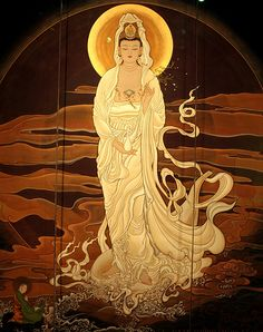 A Korean Kuan Yin, the bodhisattva of compassion who hears the cries of the world.