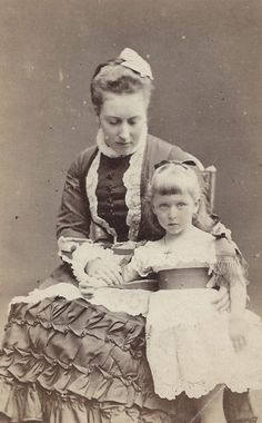 Princess Helena with her younger daughter, Princess Marie Louise.