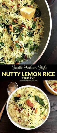 Nutty Lemon Rice Recipe - Simple Sumptuous Cooking Welcome to Simple Sumptuous Cooking, a vegan cook Indian Food Recipes, Paleo Recipes, Cooking Recipes, Free Recipes, Cooking Blogs, Cooking Classes, Cooking Games, Cooking Food, Thai Recipes