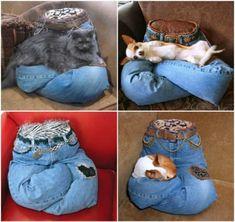 Pet-Pillow-from-old-jeans-wonderfuldiy