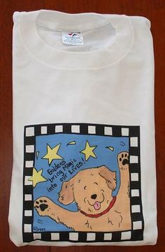 Golden Retriever Live Each Day like a Golden T by JennysDogArt, $15.00