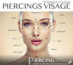 13 endroits de piercings sur le visage https://piercing-pure.fr/blog/article/13-endroits-ou-se-faire-percer-sur-le-visage?page_type=post #piercing #piercingvisage #labret #microdermal #piercingsurface #piercingnez #piercingarcade #bridge