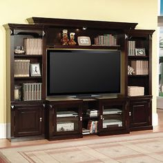 Merlot Vintage TV Stand Entertainment Center Wall Unit Furniture Storage Media | eBay