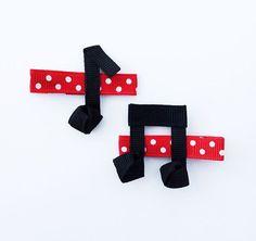 Music Note Ribbon Sculpture Hair Clip Set Girls by leilei1202