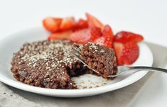 Choc Quinoa Cookie Cake- In One Minute!