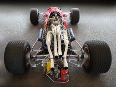 Ferrari Formula 1 racer, from behind