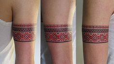 Curious facts about Ukrainian vyshyvanka Patriotische Tattoos, Armband Tattoos, Armband Tattoo Design, Body Art Tattoos, Sleeve Tattoos, Tattoos For Guys, Tatoos, Tattoo Designs, Hmong Tattoo