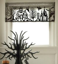 Haloween lace valence Let Your Windows Play Dress Up This Halloween