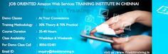 https://flic.kr/p/wBpLGs   Amazon Web Service Training in Chennai   Figure out how to utilize Amazon Web Services from apprentice level to cutting edge methods which is taught by experienced working experts. With our Amazon Web Services Training in Chennai you'll learn ideas in master level with down to earth way.  For details : www.thinkittraining.in/amazon-web-service