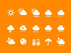 Weather icons 2 designed by Pixotico. Weather Icons, Custom Icons, Simple Icon, Best Icons, User Interface Design, Icon Font, Icon Design, Ux Design, Graphic