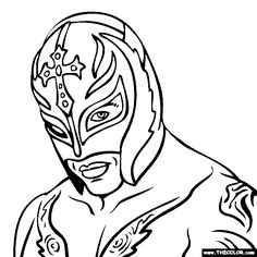 rey mysterio coloring page colouring