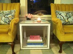 Clementine and Olive Life Style Blog: Best damn ikea hack ever - Nailhead side table