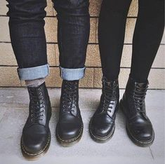 026e053e027c5 The Vegan 1460 boot and the Black1460 boot in Smooth Leather. Shared by  coool hunter.