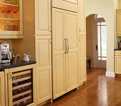 refrigerator depth counter door french panel ready side kitchenaid kitchen cu overlay cabinet inch ft doors interior dispense number cote