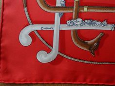 Vintage Pochette scarf details Cannes & Pommeaux :-)