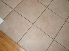 Cleaning tile grout on floors